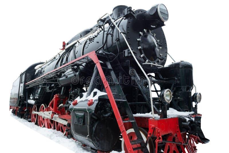 Trem velho preto fotos de stock
