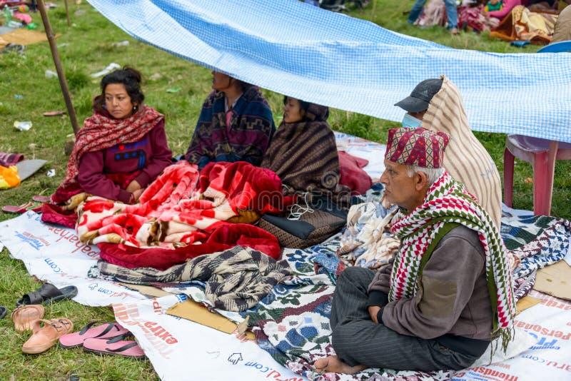Tremblement de terre du Népal à Katmandou photos libres de droits