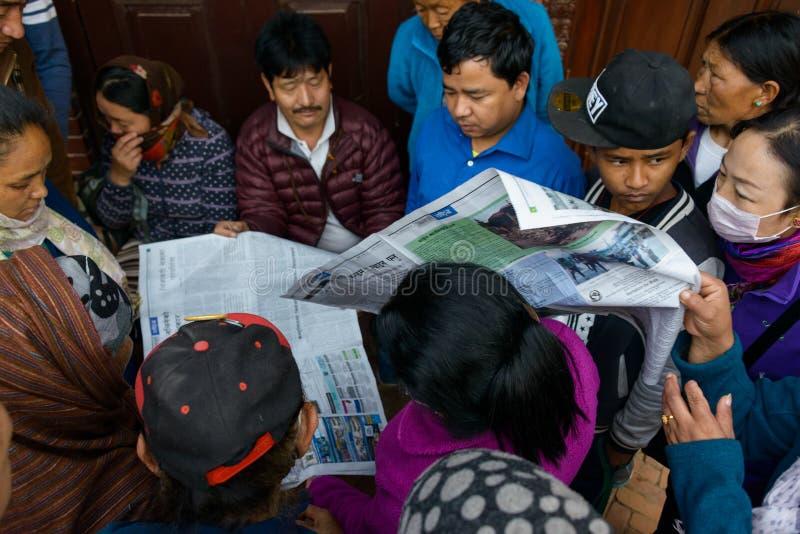 Tremblement de terre du Népal à Katmandou photographie stock libre de droits