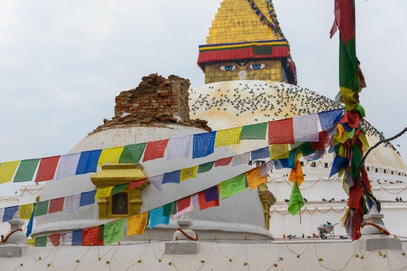 Tremblement de terre du Népal à Katmandou images stock