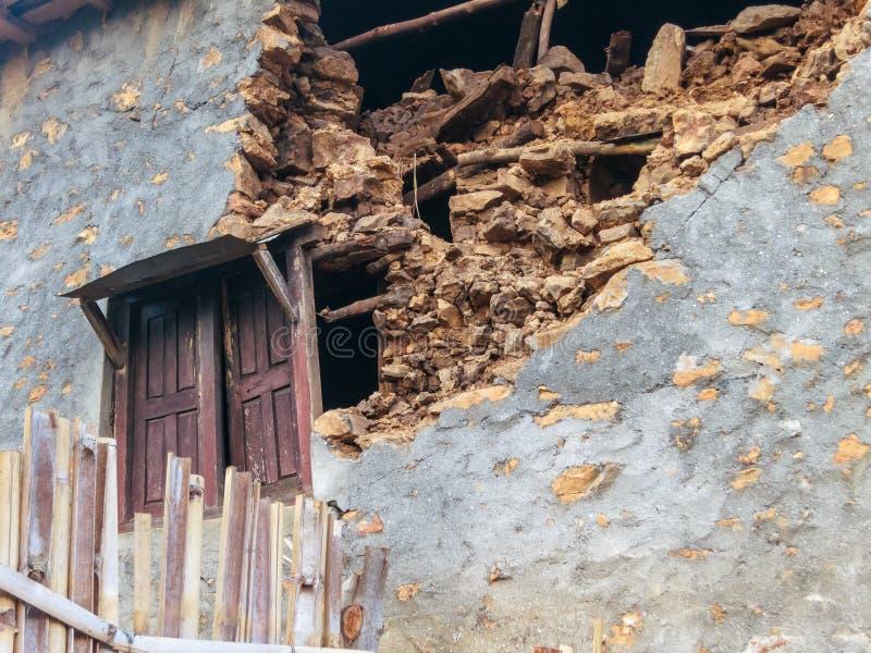 Tremblement de terre du Népal image stock