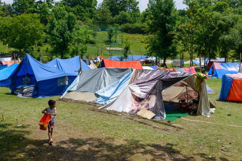 Tremblement de terre du Népal photos libres de droits