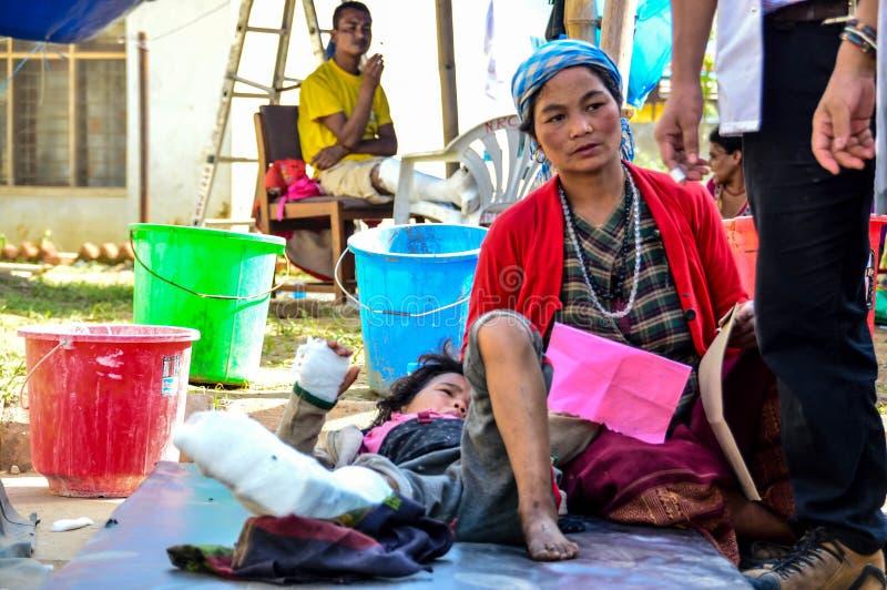 Tremblement de terre du Népal image libre de droits