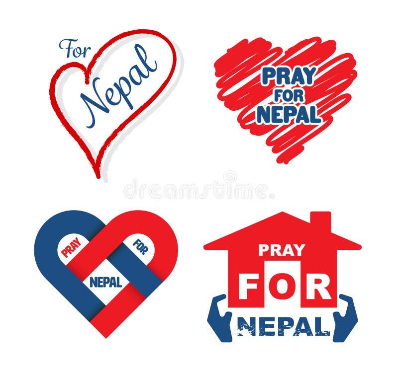 Tremblement de terre du Népal illustration de vecteur