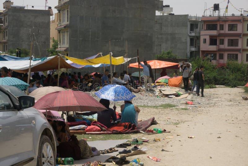 Tremblement de terre 2015 du Népal Katmandou image stock