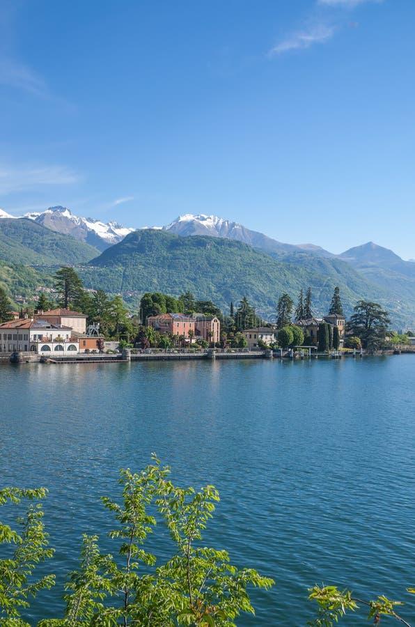Tremezzo, Meer Como, Bezoeker ziet, Italië stock foto