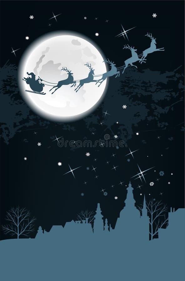 Trenó de Santa. ilustração royalty free