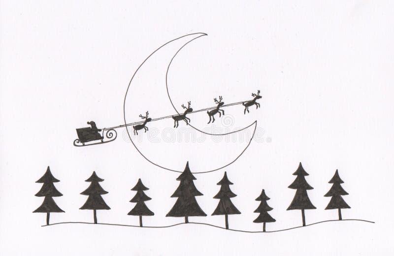 Trenó de Santa ilustração stock