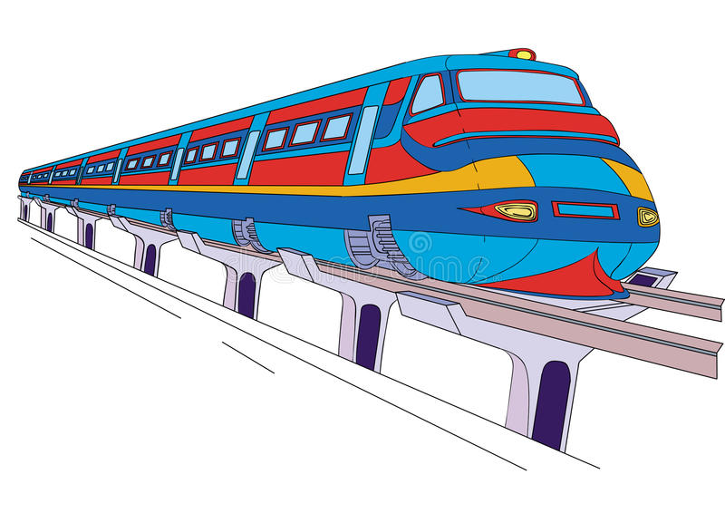 Tren ilustración del vector