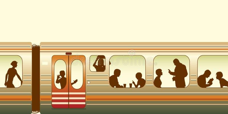 Tren stock de ilustración
