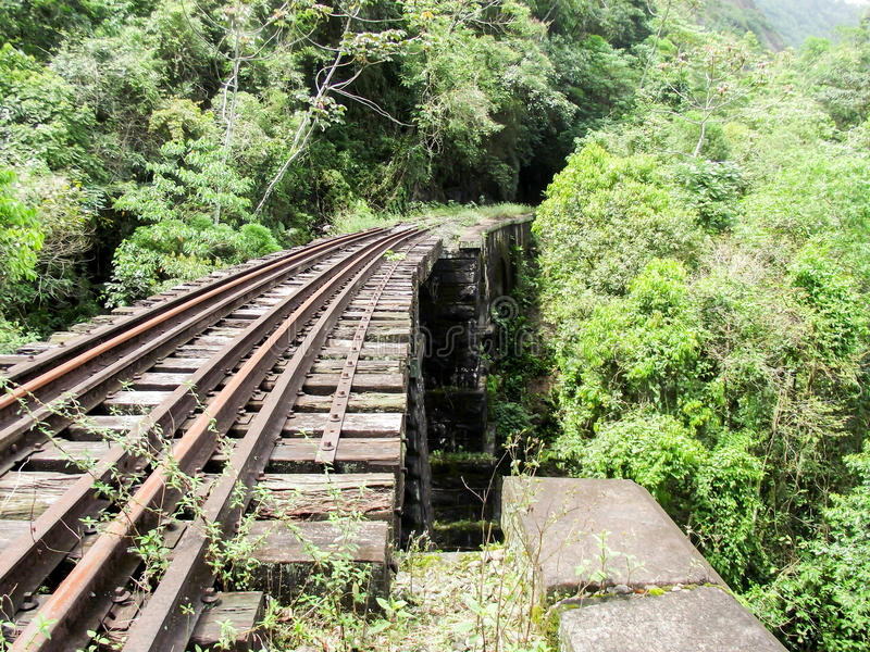 Tren abandonado hailway fotografía de archivo