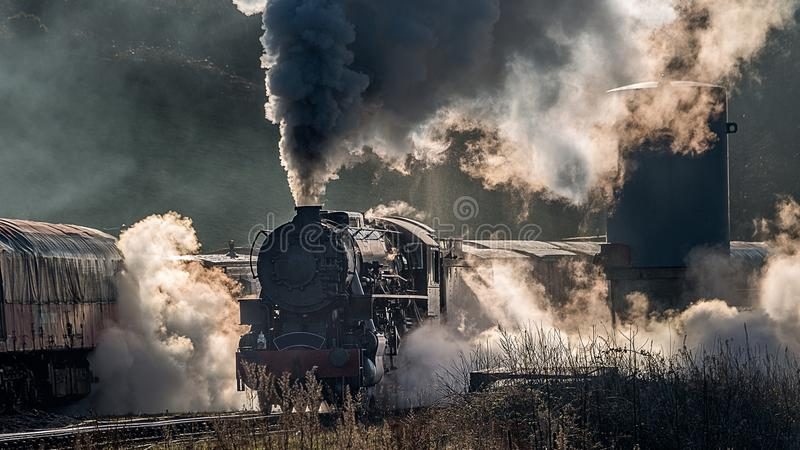 Tren atmosférico del vapor imagen de archivo