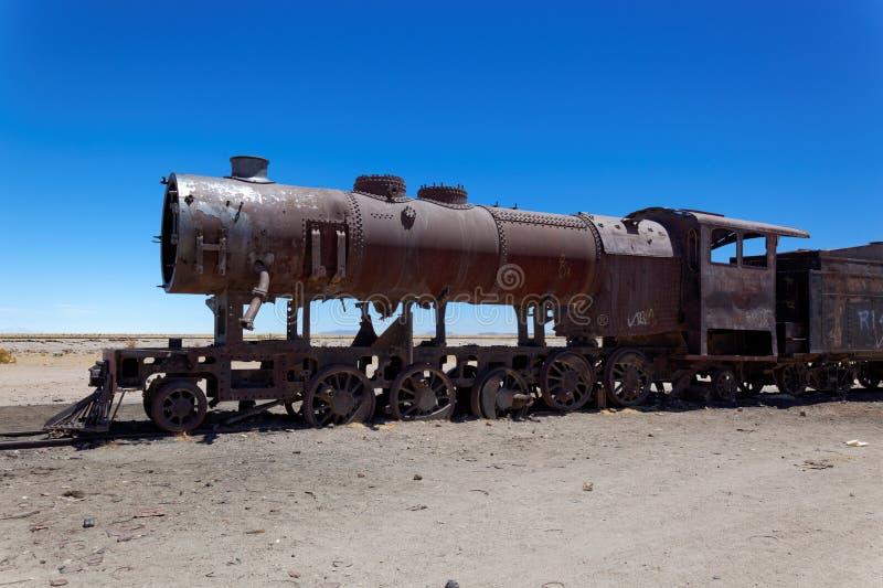 Tren Boneyard, Salar de Uyuni, Bolivia, Suramérica foto de archivo libre de regalías