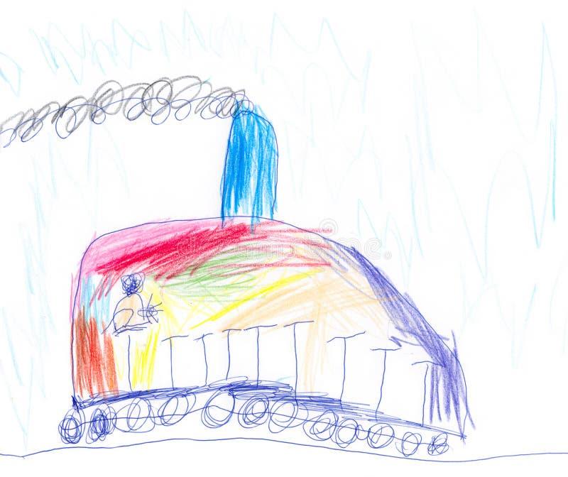Tren colorido ilustración del vector
