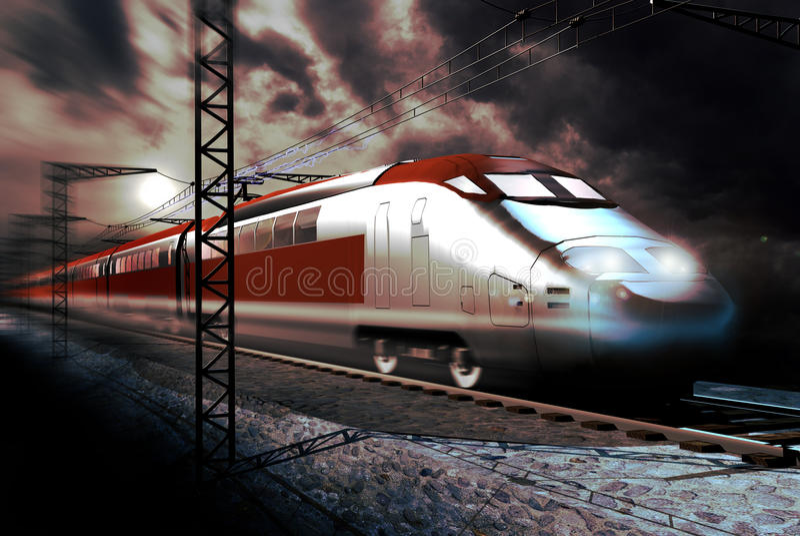 Tren de alta velocidad ilustración del vector