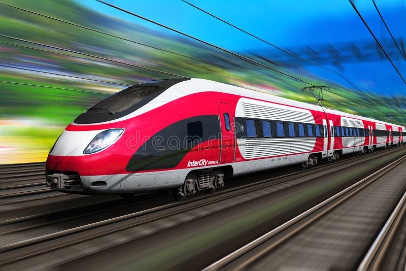 Tren de alta velocidad stock de ilustración