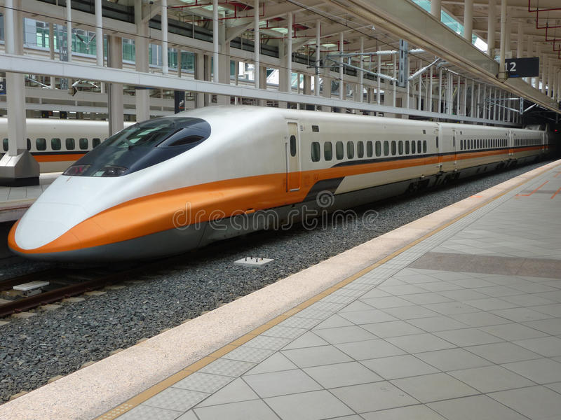 Tren de alta velocidad de Taiwán imagen de archivo libre de regalías