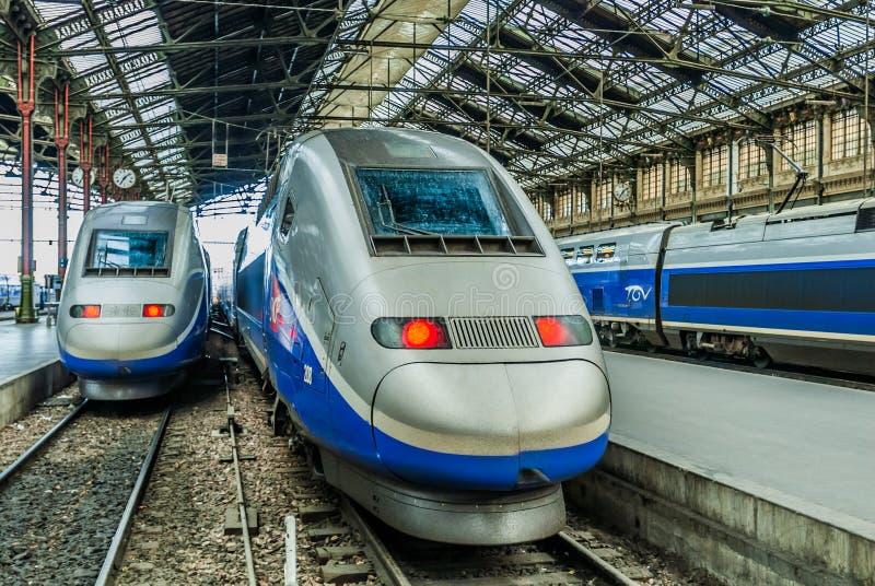 Tren de alta velocidad del francés del TGV fotografía de archivo libre de regalías