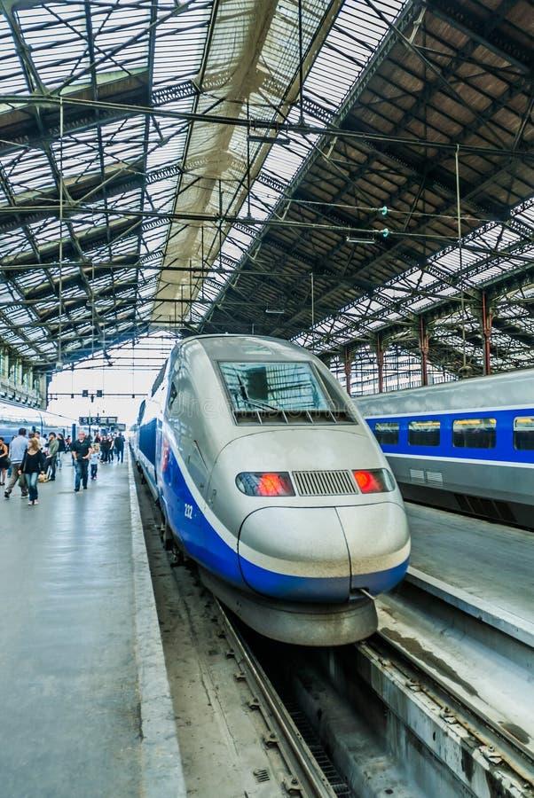 Tren de alta velocidad del francés del TGV imágenes de archivo libres de regalías