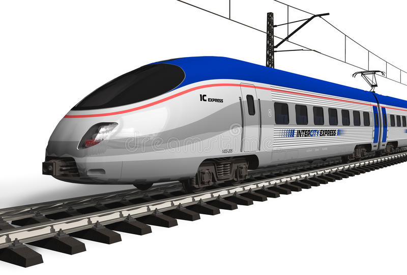 Tren de alta velocidad moderno libre illustration