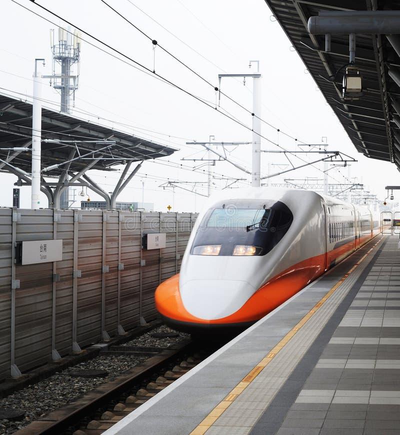 Tren de alta velocidad Tainan de Taiwán imágenes de archivo libres de regalías