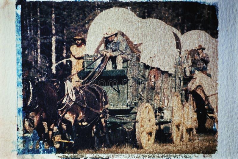 Tren de carro tomado en una repromulgación histórica fotografía de archivo libre de regalías