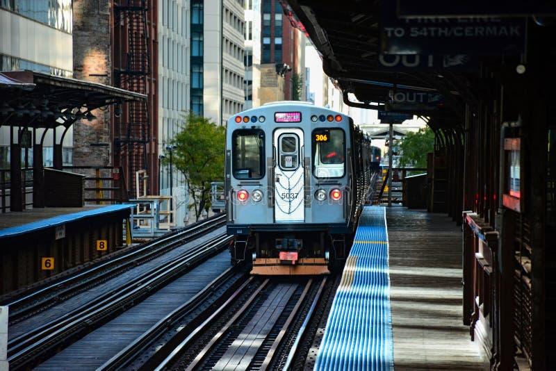 Tren de Chicago CTA fotografía de archivo