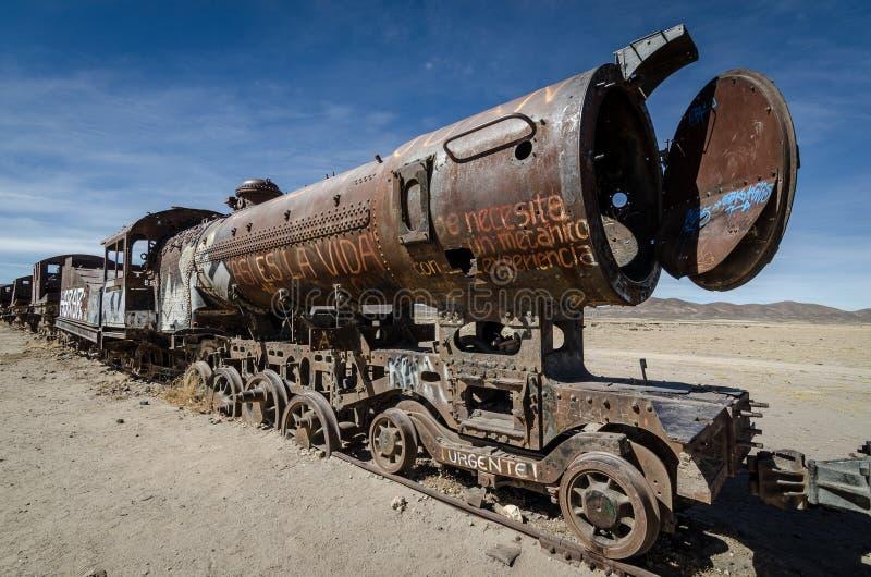 Tren de fantasma, Bolivia imágenes de archivo libres de regalías