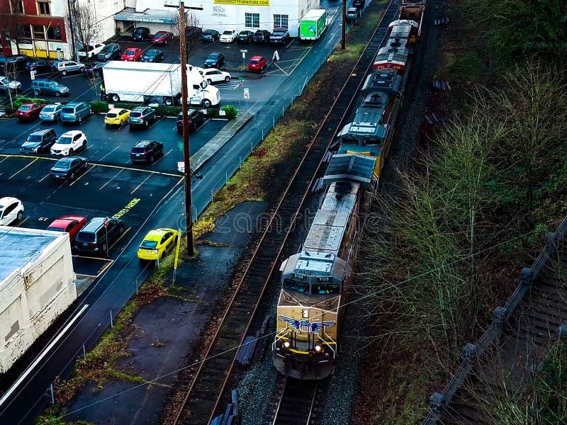 Tren de la ciudad de Oregon foto de archivo