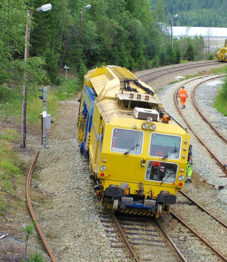 Tren de la construcción de pista fotografía de archivo