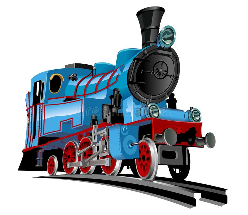 Tren de la historieta del vector ilustración del vector