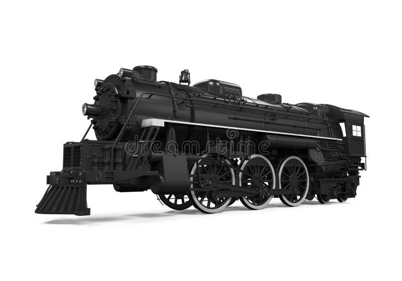 Tren de la locomotora de vapor stock de ilustración