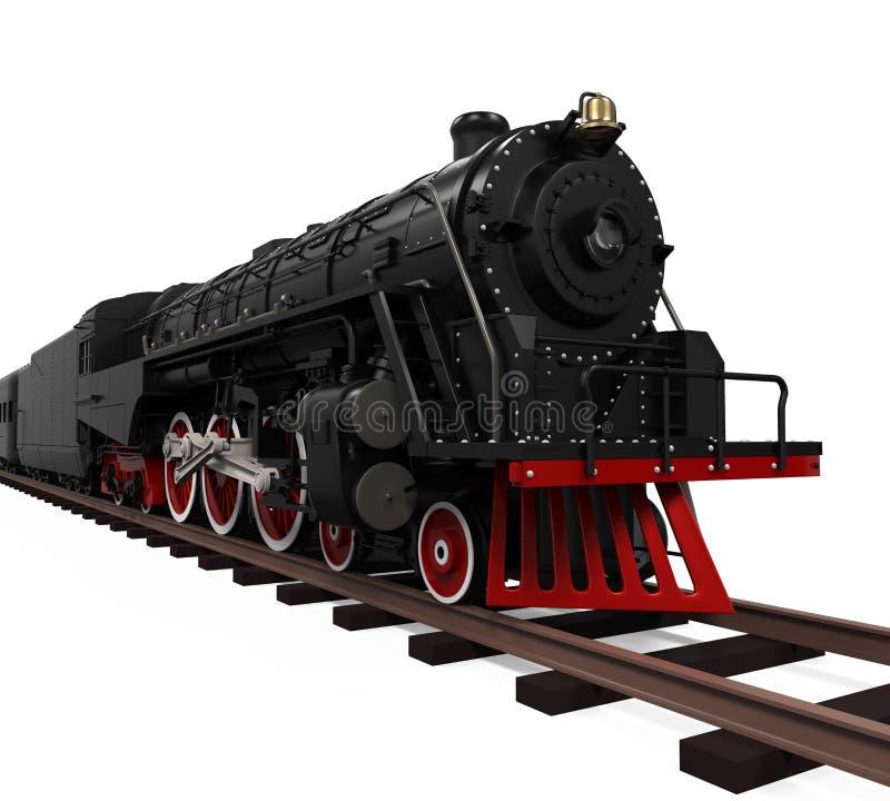 Tren de la locomotora de vapor ilustración del vector