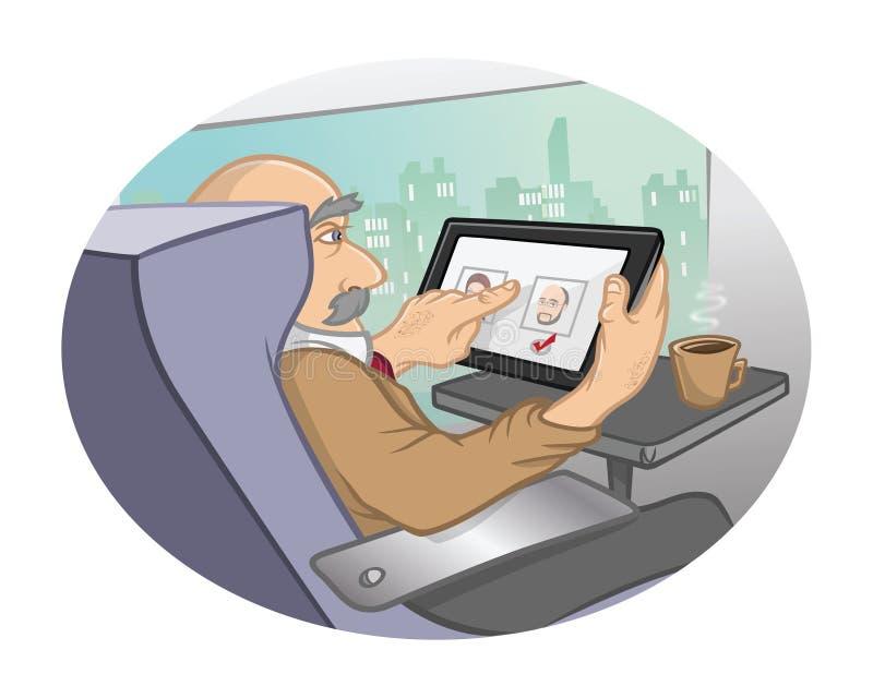 Tren de la tecnología de la tablilla libre illustration