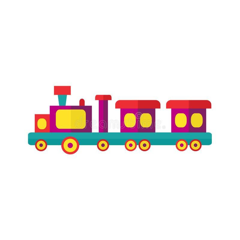 Tren de los niños del vapor del vector del parque de atracciones stock de ilustración