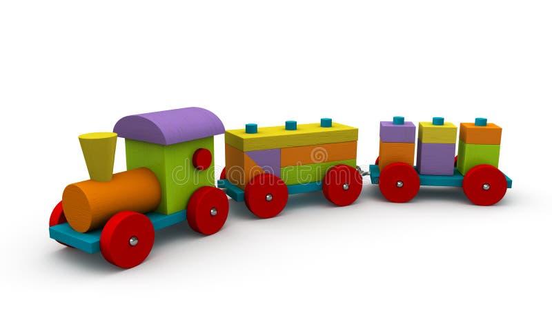 Tren de madera stock de ilustración