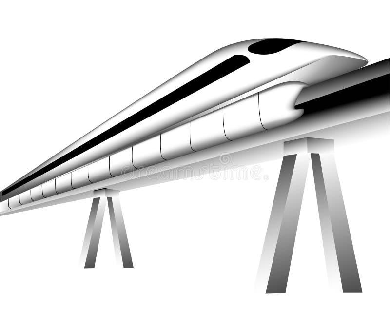 Tren de Maglev stock de ilustración