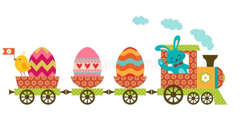 Tren de Pascua stock de ilustración