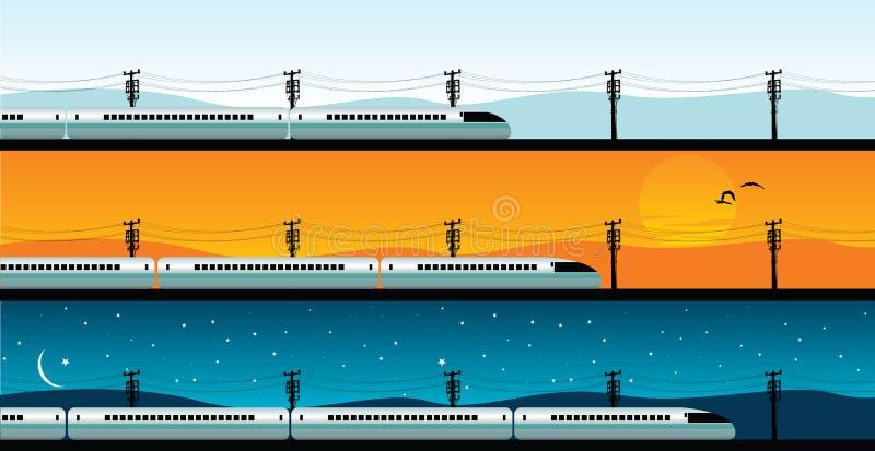 Tren de punto negro ilustración del vector