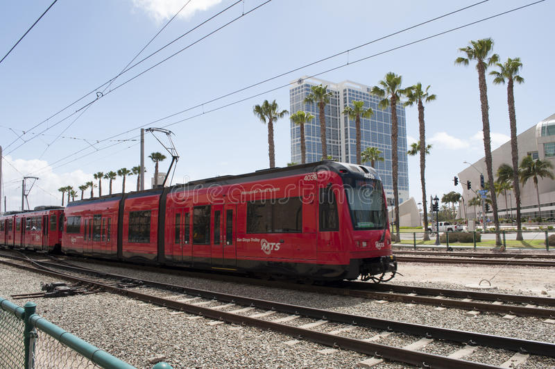 Tren de San Diego MTS imágenes de archivo libres de regalías
