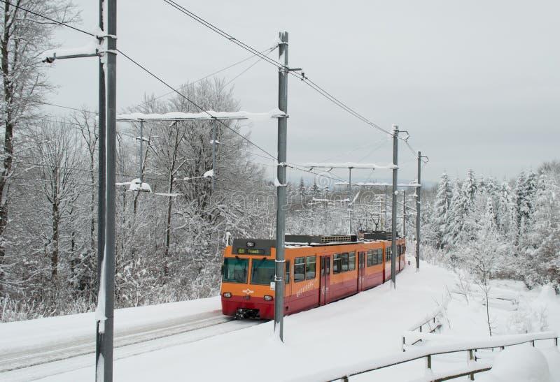 Tren de Uetliberg foto de archivo
