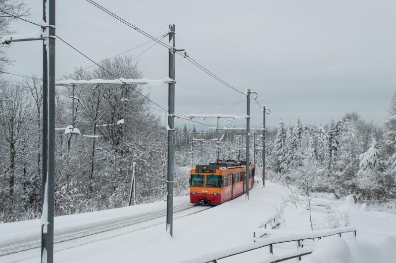 Tren de Uetliberg foto de archivo libre de regalías