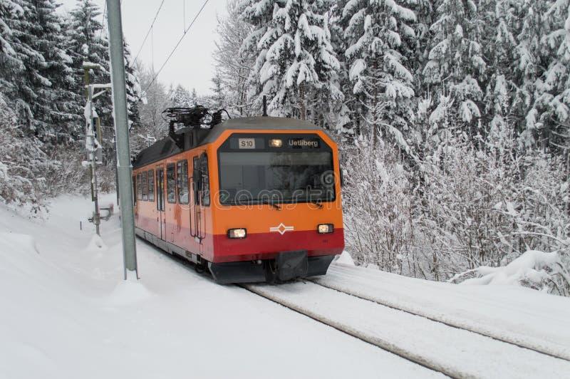 Tren de Uetliberg imagen de archivo libre de regalías