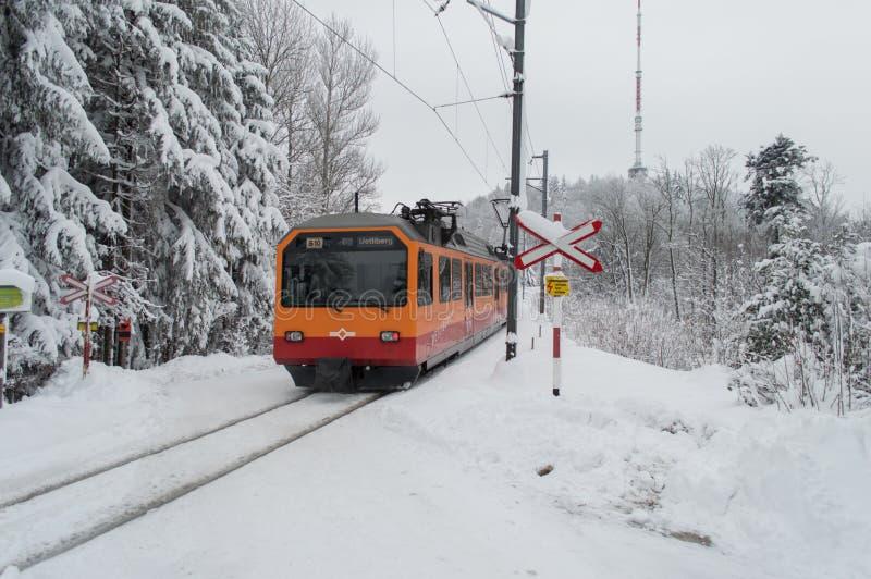 Tren de Uetliberg fotos de archivo