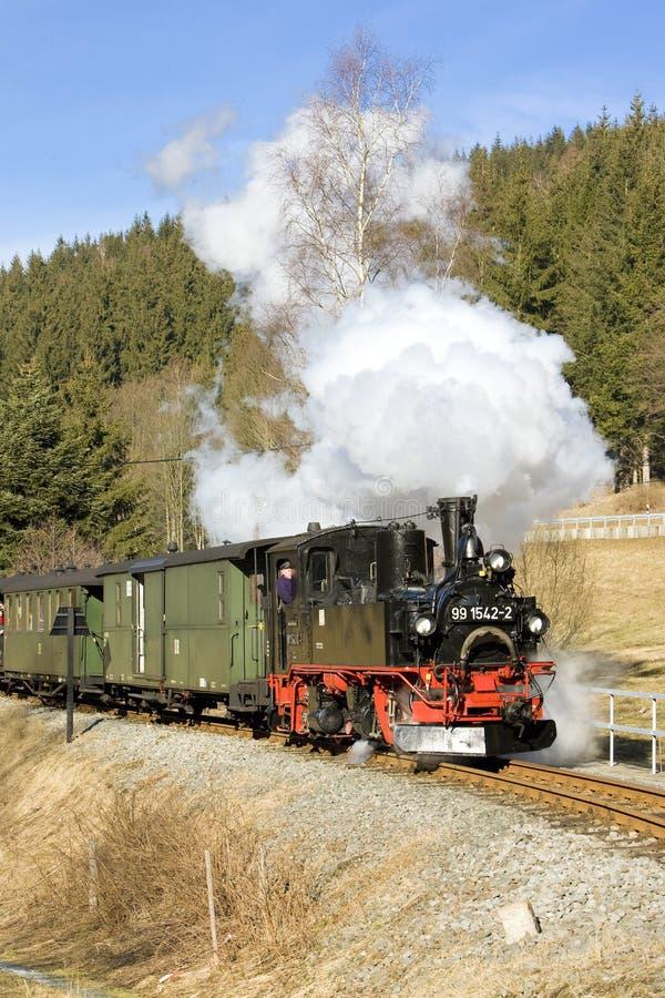 tren de vapor, Steinbach - Jöhstadt, Alemania fotos de archivo libres de regalías