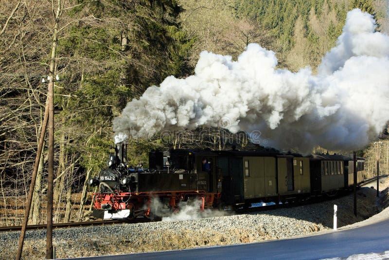 tren de vapor, Steinbach - Jöhstadt, Alemania imagenes de archivo