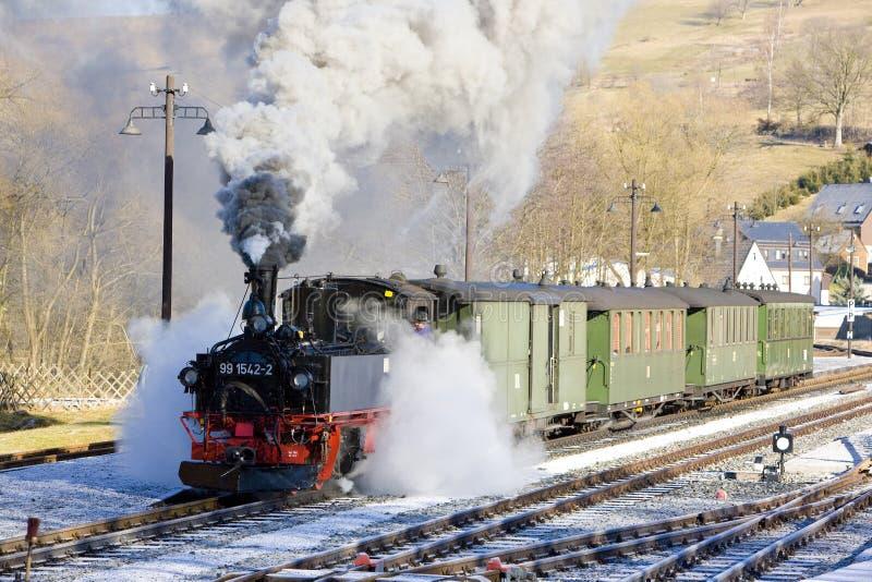 tren de vapor, Steinbach - Jöhstadt, Alemania fotos de archivo