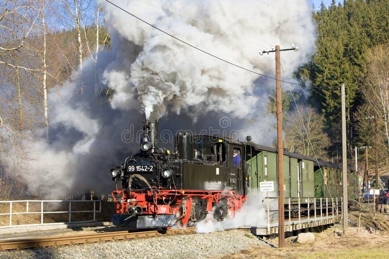 tren de vapor, Steinbach - Jöhstadt, Alemania fotografía de archivo