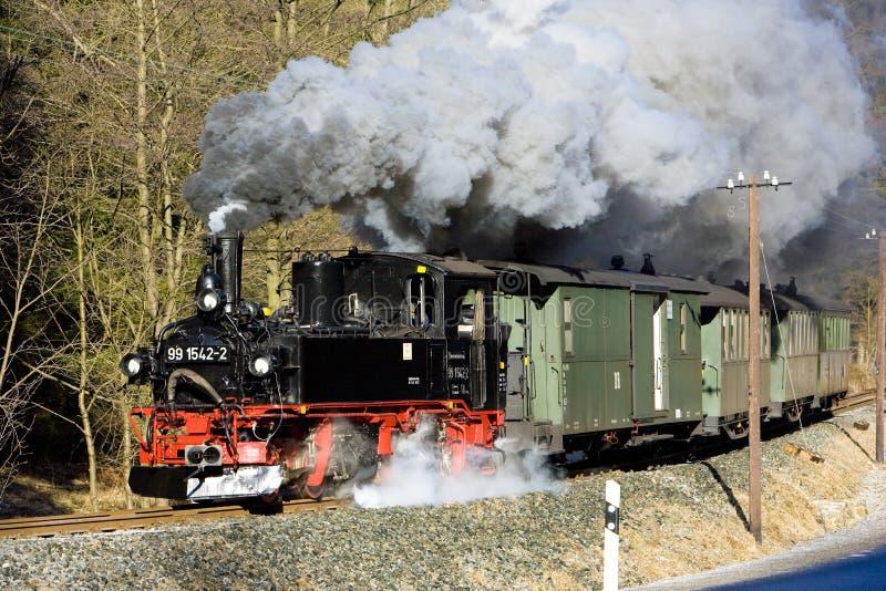 tren de vapor, Steinbach - Jöhstadt, Alemania imagen de archivo