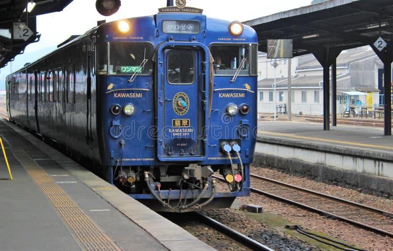 Tren de visita turístico de excursión de lujo, Kawasemi Yamasemi imagen de archivo libre de regalías